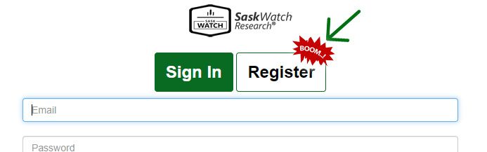 Sign up with SaskWatch, SaskWatch Research, Insightrix Research